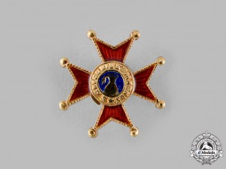 Vatican. A Spink-Made Pontifical Equestrian Order of St. Gregory the Great Gold Lapel Badge