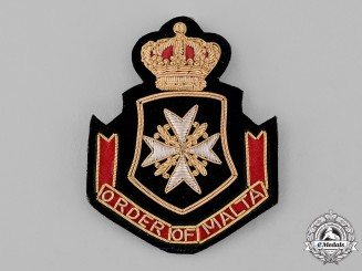 International. A Sovereign Military Hospitaller Order of Saint John of Jerusalem, of Rhodes and of Malta, Blazer Patch
