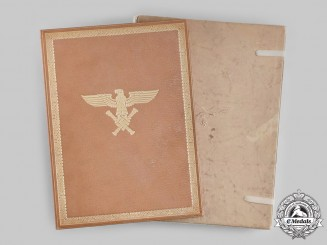 Germany, Luftwaffe. A Pilot Observer's Badge in Gold & Diamonds Award Document