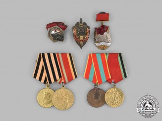 Russia, Soviet Union. A Lot of Four Medals and Awards