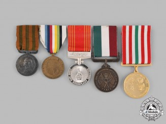 International. A Lot of Five Medals, Awards, & Decorations