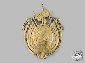 Tunisia, Ottoman Empire. An Infantry Officer's Fez Plate, c.1865