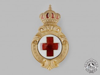 Bulgaria, Kingdom. A Red Cross Badge, First Version, Type I