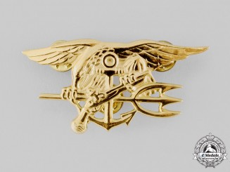 "United States. A Special Warfare Insignia (AKA ""SEAL Trident"", ""The Budweiser"")"