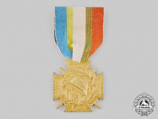France, Republic. A Department of Aube Combatant's League Membership Medal 1914-1918