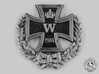 Germany, Imperial. An Iron Cross 1914 Patriotic Wall Plaque, c.1915