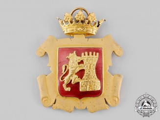 Spain. Franco Era. A Municipality of Alora City Hall Badge of Excellence
