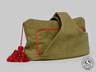 Spain, Spanish State. An Army Garrison Cap by Vestuario, c.1943