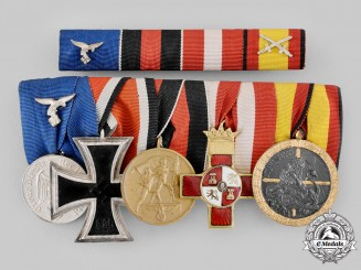 Germany, Luftwaffe. A Spanish Civil War Medal Bar