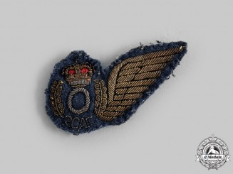Canada, Commonwealth. A Queen's Crown Royal Canadian Air Force (RCAF) Observer's Brevet Wing