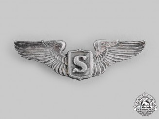 United States. An Army Air Force Service Pilot Badge, c.1944