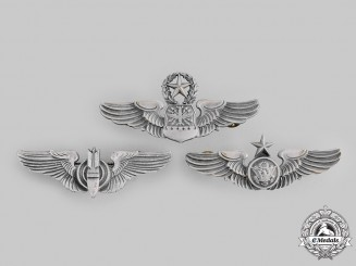 United States. Three Army Air Force/United States Air Force Badges