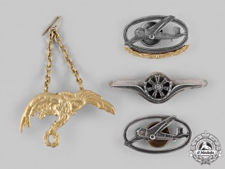 Poland, Republic. Four Post-1945 Air Force Badges