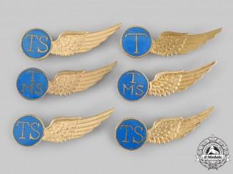 Netherlands, Kingdom. Six Second War Royal Netherlands Naval Air Service Qualification Badges
