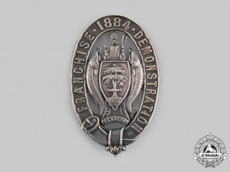 United Kingdom. The Glasgow Franchise Demonstration of September 1884 Badge