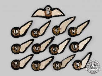 United Kingdom. A Lot of Thirteen Royal Air Force (RAF) Badges