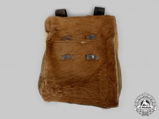 "Germany, Third Reich. A German M34 ""Pony Fur"" Tornister (Knapsack), belonging to Bahlbrech Wolf, c. 1937"