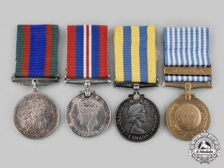 Canada, Commonwealth. A Second War and Korean War Group of Four, to D.J. Griffin