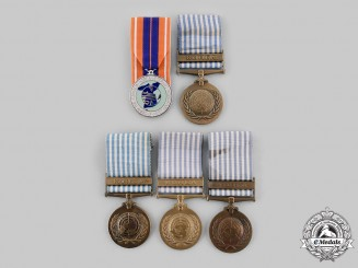 Canada, Commonwealth. Five Korean War Medals
