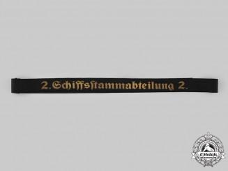 Germany, Kriegsmarine. A Schiffsstammabteilung 2 Cap Tally Ribbon