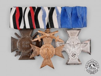 Germany, Third Reich. A Police Long Service Medal Bar