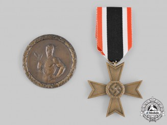 Germany, Third Reich. A Pair of Merit Decorations