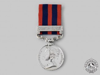United Kingdom. An India General Service Medal 1854-1895, to Driver R. Pitts, D Battery, F Brigade, Royal Artillery