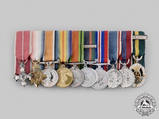 Canada, Commonwealth. An MBE First and Second War Miniature Group