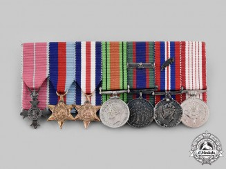 Canada, Commonwealth. An MBE & MID Second War Miniature Group of Seven