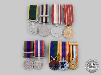 Canada, Commonwealth. A Lot of Nine Miniature Medals