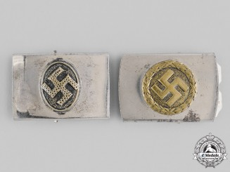 Germany, Third Reich. A Pair of NSDAP Supporter's Buckles