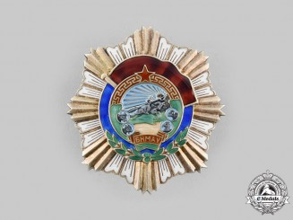 Mongolia, People's Republic. An Order of the Red Banner of Labour Valour, c.1950