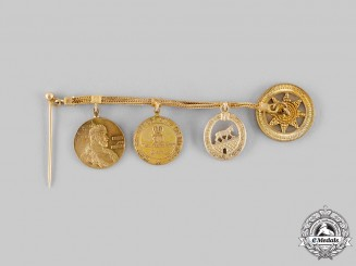 Germany, Imperial. An Albert the Bear Miniature Award Chain