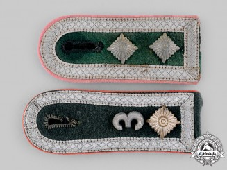 Germany, Heer. A Pair of Panzer Shoulder Boards