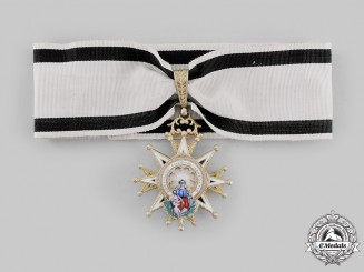 Spain, Kingdom. A Civil Order of Charity, Commander, Purple & White Distinction, c.1920