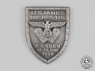 Germany, Heer. An 116th Infantry Regiment 125th Anniversary Badge