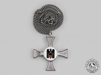 Germany, DRK. A Red Cross Sister's 10 Year Service Cross