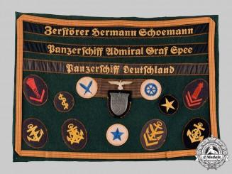 Germany, Kriegsmarine. A Rare Naval Issue Kuban Shield, Souvenir Presentation