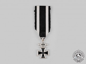 Germany, Federal Republic. A 1914 Iron Cross with 1939 Clasp Miniature, 1957 Version