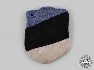 Germany, SS. A Rare & Early 20th Waffen Grenadier Division of the SS (1st Estonian) Sleeve Shield