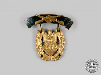 Germany, DSV. A German Marksmanship Association (DSV) Small Honour Badge for Distunguished Shooting, Gold Grade