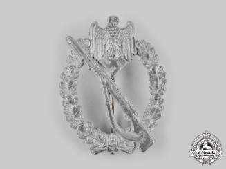 Germany, Wehrmacht. An Infantry Assault Badge, Silver Grade, by Steinhauer & Lück