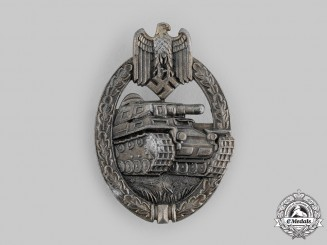 Germany, Heer. A Panzer Assault Badge in Bronze, by Friedrich Linden
