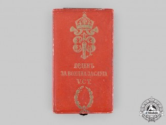 Bulgaria, Kingdom. An Order of Military Merit, V Class with War Decoration Case, c.1900
