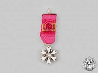 Estonia, Republic. An Order of the White Star, Miniature, c.1945