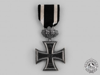 "Prussia, State. An 1870 Iron Cross, II Class  with ""25"" Jubilee Oakleaves"