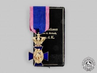 Bavaria, Kingdom. A Royal Merit Order of St. Michael in Gold, III Class, by Gebrüder Hemmerle, c.1900