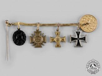 Germany, Weimar Republic. A 1914 EK Miniature Medal Chain