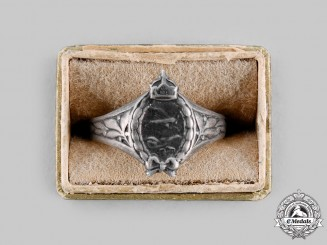 Germany, Imperial. A Prussian Pilot Badge Ring, c.1917