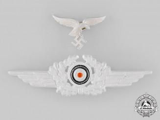 Germany, Luftwaffe. An EM/NCO's II Pattern Visor Cap Eagle and Cockade